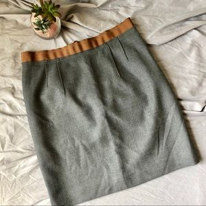 Loft Grey Wool Pencil Skirt 6P